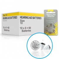 Hearing Aid Batteries for MINI® Hearing Aid - Size 10 (60 pcs)