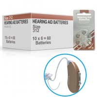Hearing Aid Batteries for PRO200® Hearing Aid - Size 312 (60 pcs)