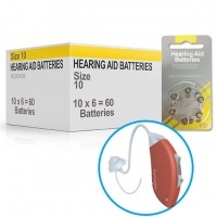 Hearing Aid Batteries for JOY® Hearing Aid - Size 10 (60 pcs)